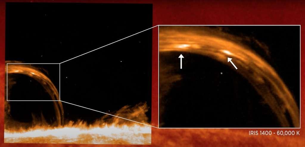 En avril 2014, l'Interface Region Imaging Spectrograph (Iris) de la Nasa était finement réglé pour zoomer sur des événements habituellement difficiles à discerner sur le Soleil : des nanojets. © Goddard Space Flight Center, Nasa