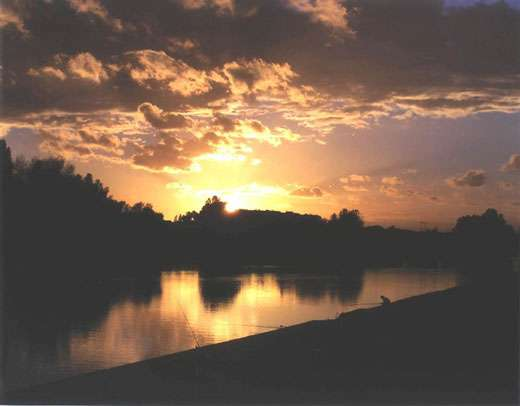 Loire-Orléans, coucher de soleil