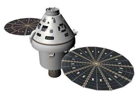 Orion, véhicule habité destiné à remplacer les navettes spatiales à l'horizon 2015. Crédit Nasa