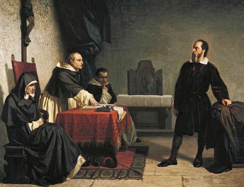 Galilée face à l'Inquisition romaine, par Cristiano Banti en 1857. Collection privée. © Wikimedia Commons, DP