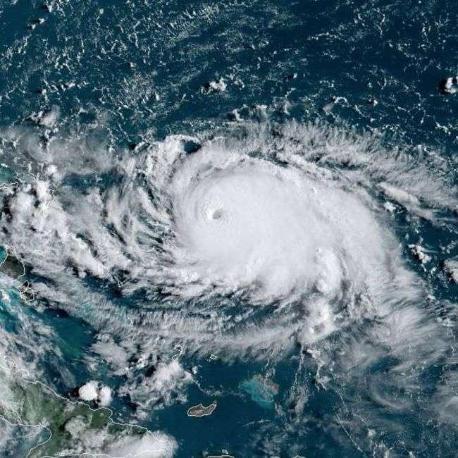 L'œil de l'ouragan Dorian apparaît clairement sur ce cliché pris le 31 août 2019 par le satellite GOES-East de l'Agence américaine responsable de l'étude de l'océan et de l'atmosphère (NOAA) © CIRA, NOAA