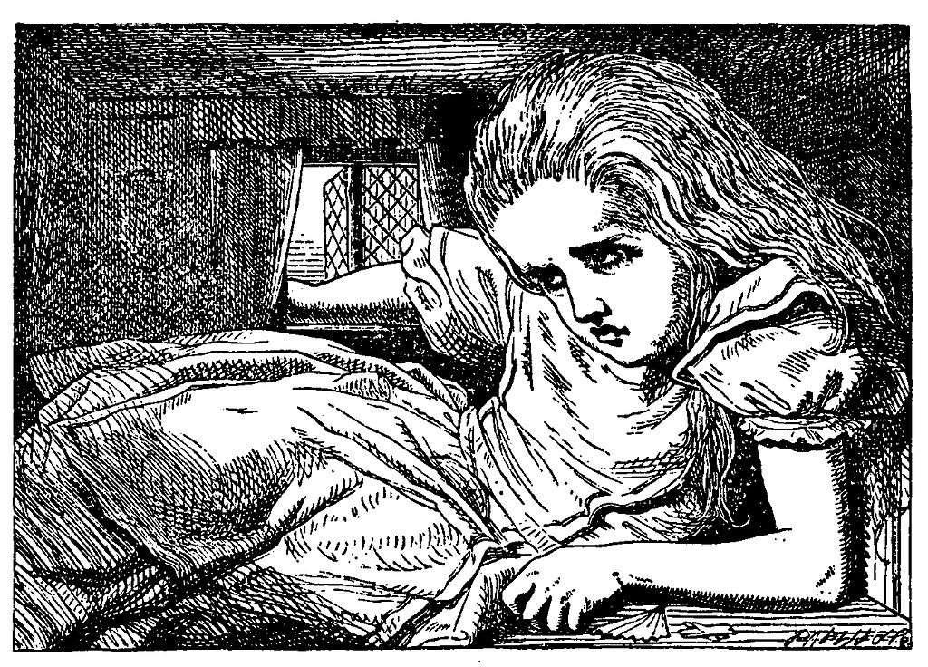 Dans le roman de Lewis Caroll, Alice change souvent de taille. © John Tenniel, Lewis Caroll, Wikimedia Commons, Domaine public