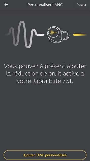 Les Jabra Elite 75t ont récemment bénéficié d'une mise à jour qui ajoute une réduction de bruit active. © Marc Zaffagni