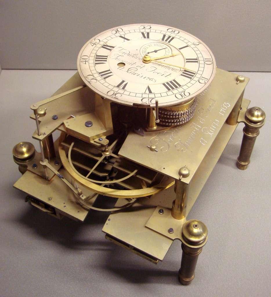 Chronomètre de marine N°2 par Ferdinand Berthoud, 1763. Musée des Arts et Métiers, Paris. © Wikimedia Commons, domaine public
