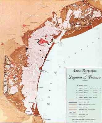 La lagune de Venise et ses trois passes d'accès - Copyright : Ifremer