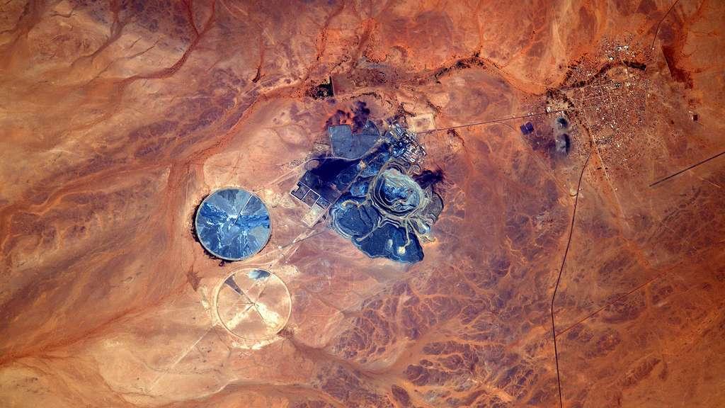 Une mine en Mauritanie vue de l'espace