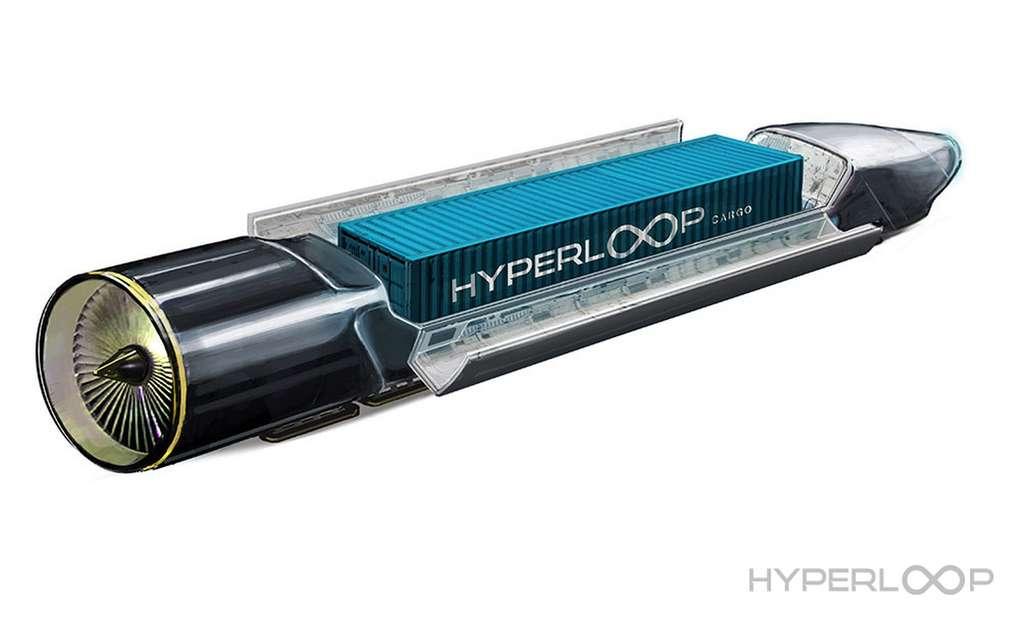 Les capsules Hyperloop pourraient non seulement transporter des passagers mais aussi du fret. © Hyperloop One
