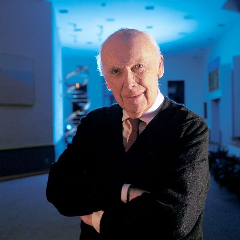 James Watson est le co-découvreur de la structure de l'ADN. Son génome a été séquencé. © University of Arkansas