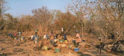 Orpaillage au Sénégal.