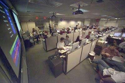 L'ancienne salle de contrôle du JPL. © JPL/NASA.