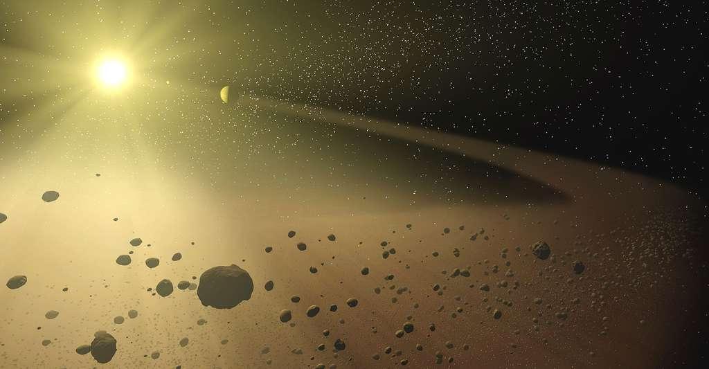 La ceinture principale d'astéroïdes est une région du Système solaire située entre les orbites de Mars et Jupiter. © Nasa/JPL-Caltech/T. Pyle (SSC)