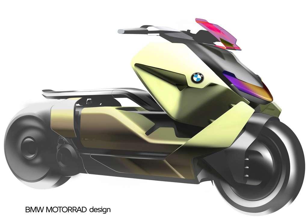 Le scooter électrique BMW Definition CE 04 est très proche du concept de 2017. © BMW