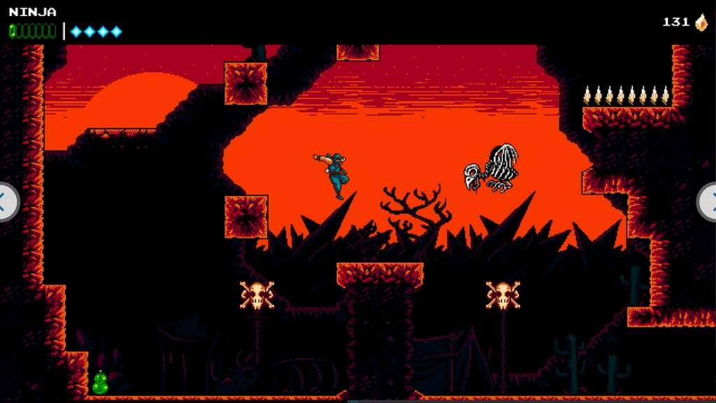 Dans The Messenger, le joueur incarne un ninja devant transmettre un parchemin de la plus haute importance alors que le Roi Démon vient de faire son retour. © Sabotage Studio