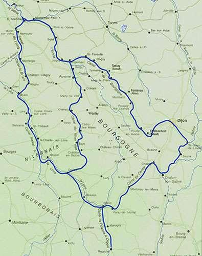 Carte des canaux de la région