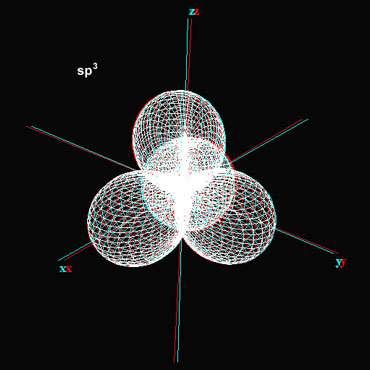 sp3 carbone à quatre liaisons