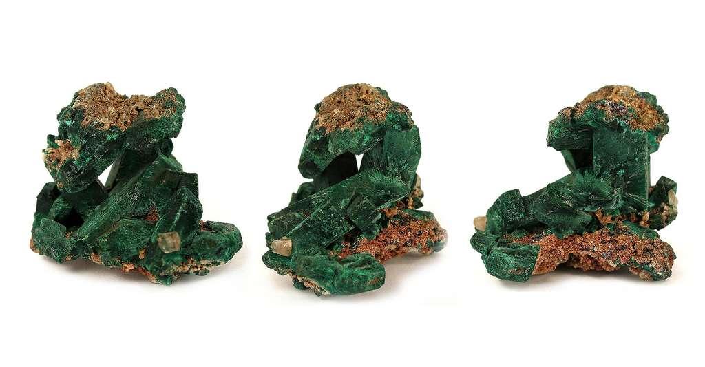 Quels sont les minéraux de la mine de Tsumeb ? Ici, de la malachite. © Rob Lavinsky, iRocks.com, Wikimedia Commons, CC by-sa -3.0