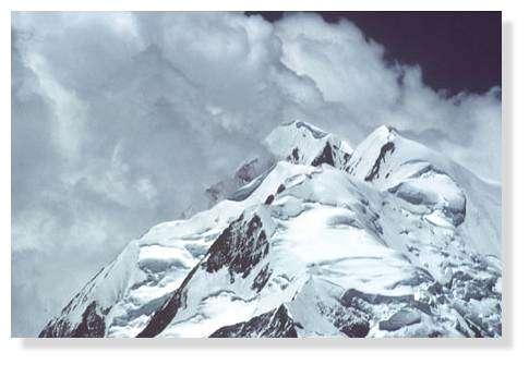 Détail d'un sommet de l'Illimani, Bolivie. © IRD/Denis Wirrmann.
