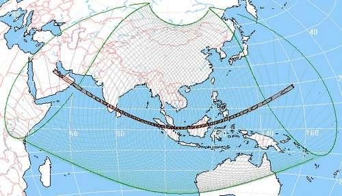 L'éclipse solaire sera visible en Afrique. © Réalisé avec WinEclipse v3.5 de Heinz Scsibrany