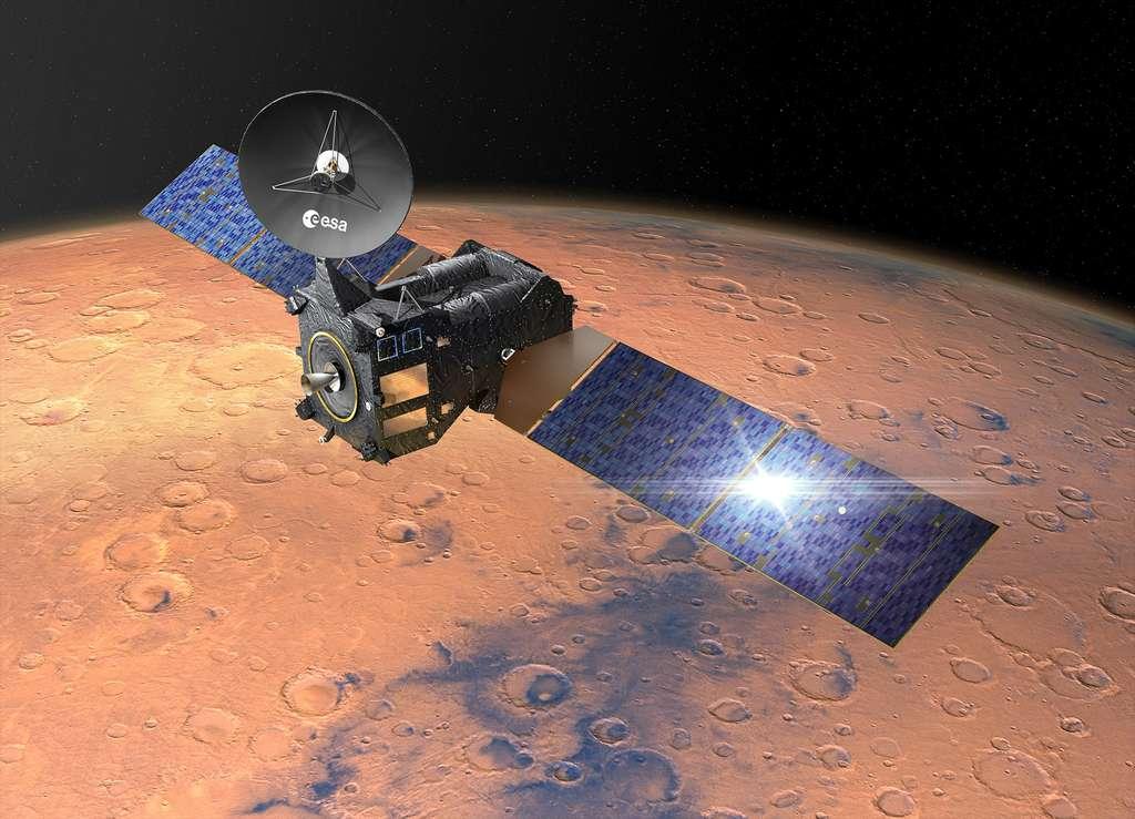 Le TGO ne sera pas seulement utilisé pour observer et étudier la planète Mars. Il servira également à relayer vers la Terre les données du rover ExoMars 2020, de l'Agence spatiale européenne, dont le lancement est prévu en juillet 2020. © D. Ducros, ESA