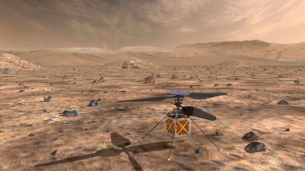 Concept d'hélicoptère martien étudié par le JPL de la Nasa. © Nasa, JPL