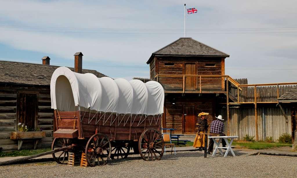Fort Mac Leod, connu pour avoir été le siège de la première garnison de la police montée dans l'Ouest canadien. © Antoine - Tous droits réservés