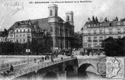 Besançon, le pont battant. © Domaine public