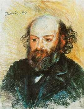 Ce portrait de Cézanne par Renoir est un pastel sur papier réalisé en 1880. © DR