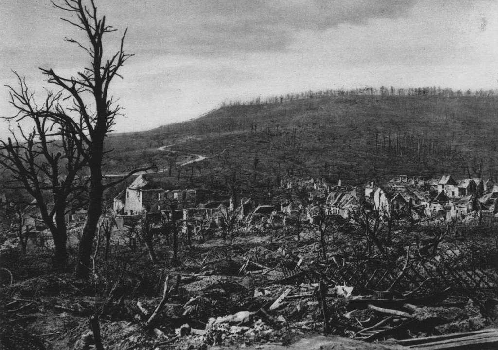 Le village de Soupir en avril 1917. © Wikimedia Commons, domaine public.