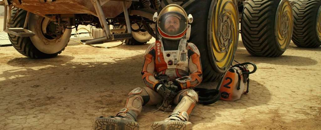 Matt Damon alias Mark Watney dans Seul sur Mars. © 20 th Century Fox