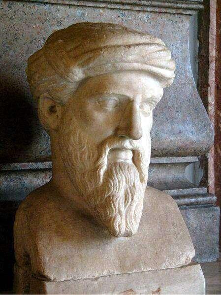 Pythagore est connu pour ses découvertes en théorie des nombres. © Skies, Wikipédia CC by sa 3.0