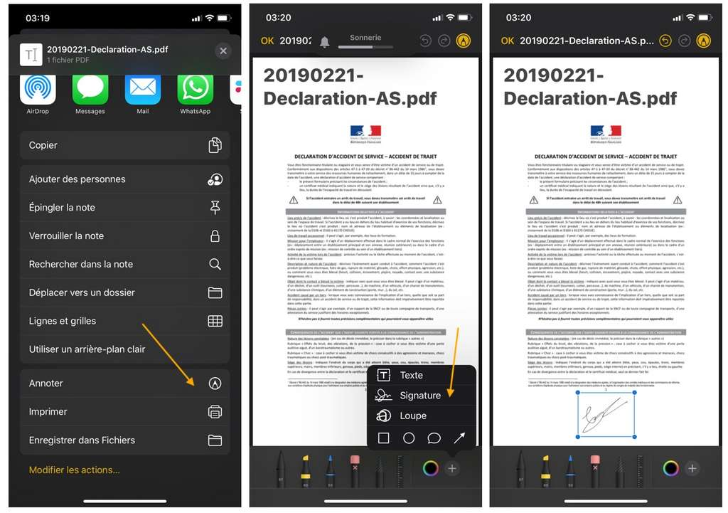 Comment signer un document pdf sur l'iPhone ? © DR