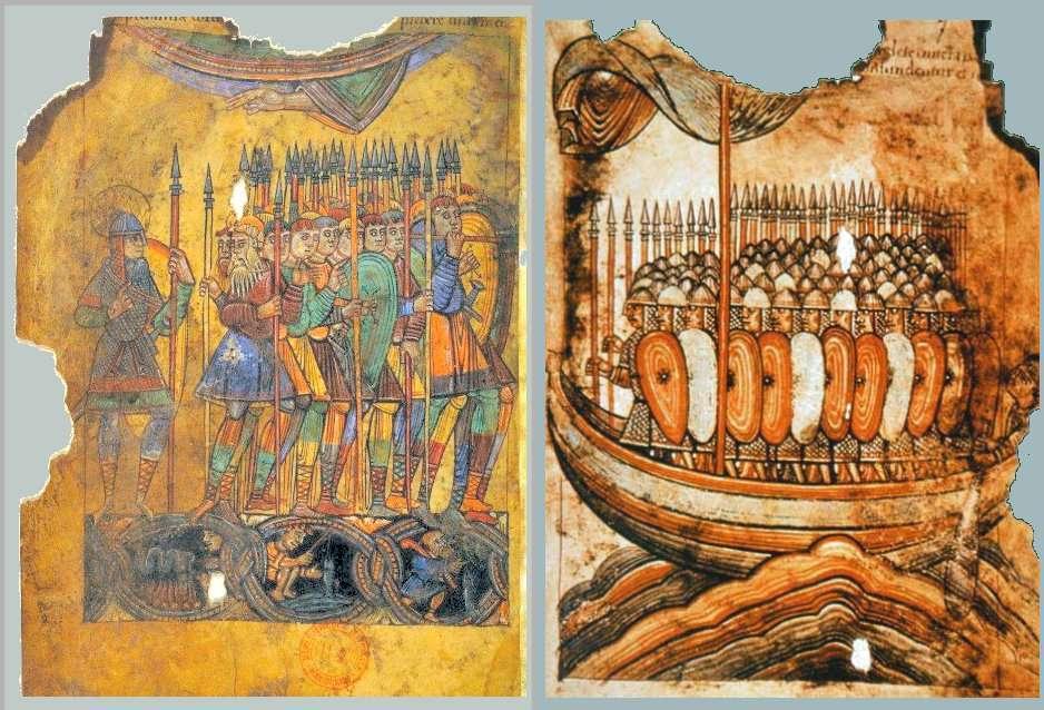 De nombreuses attaques ont été menées par les Vikings en France. Ici, Saint-Aubin leur fait face pour défendre Guérande. © Wikimedia Commons, DP