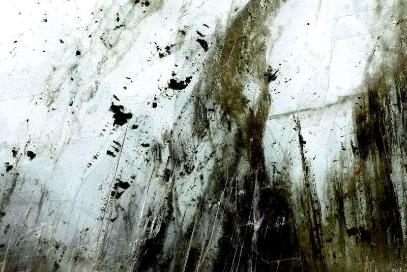 Gypse noir et blanc aux impuretés contrastées