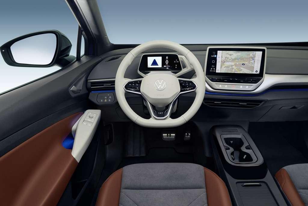 L'habitacle de l'ID.4 est identique à celui de l'ID.3. © Volkswagen