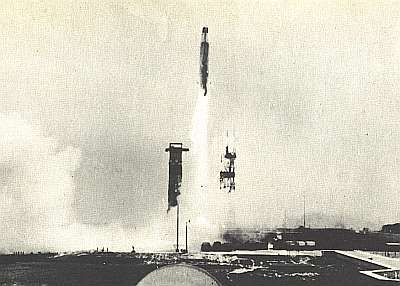Grosse Annie 3 au décollage, le 11 décembre 1957 à Cap Canaveral. Document Lockheed-Martin