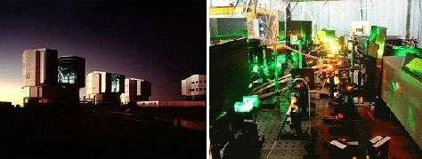 VLT Atacama - Vue du laboratoire où ont été effectuées les mesures avec un laser