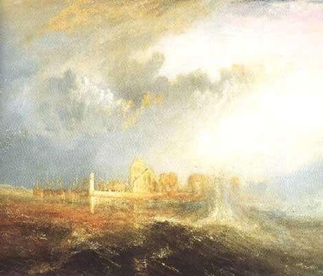 Turner - Mascaret au Phare de Quilleboeuf.