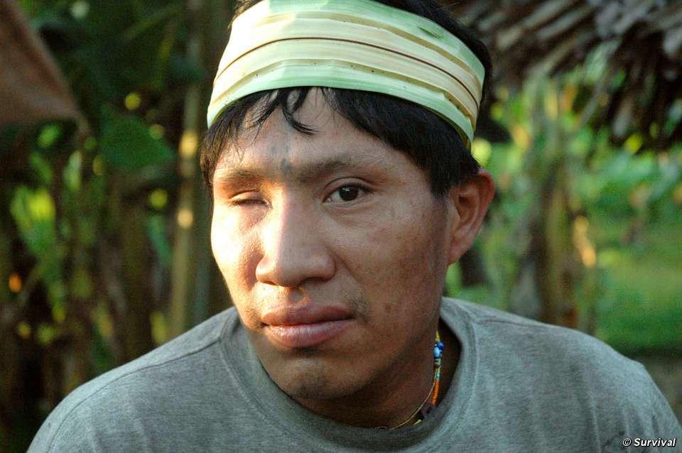 Jorge a perdu son œil au cours du premier contact. © David Hill, Survival