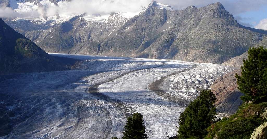 Le glacier Aletsch, le plus grand des Alpes. © Jo Simon, CC BY 2.0