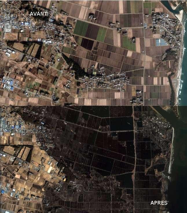 La ville de Haranomachi avant et après le tsunami japonais