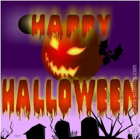 Cliquez sur l'image pour envoyer l'e-card Happy Halloween. © Futura-Sciences
