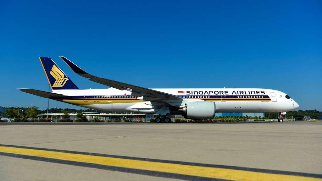 L' A350-900 ULR de Singapore Airlines qui sera utilisé pour relier Singapour à New-York en 18 heures et 45 minutes, sans escale. © Airbus, H. Goussé, Master Films