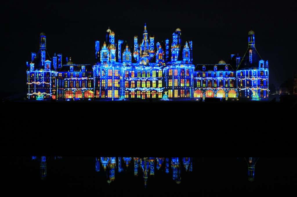 Le château de Chambord illuminé pour Noël