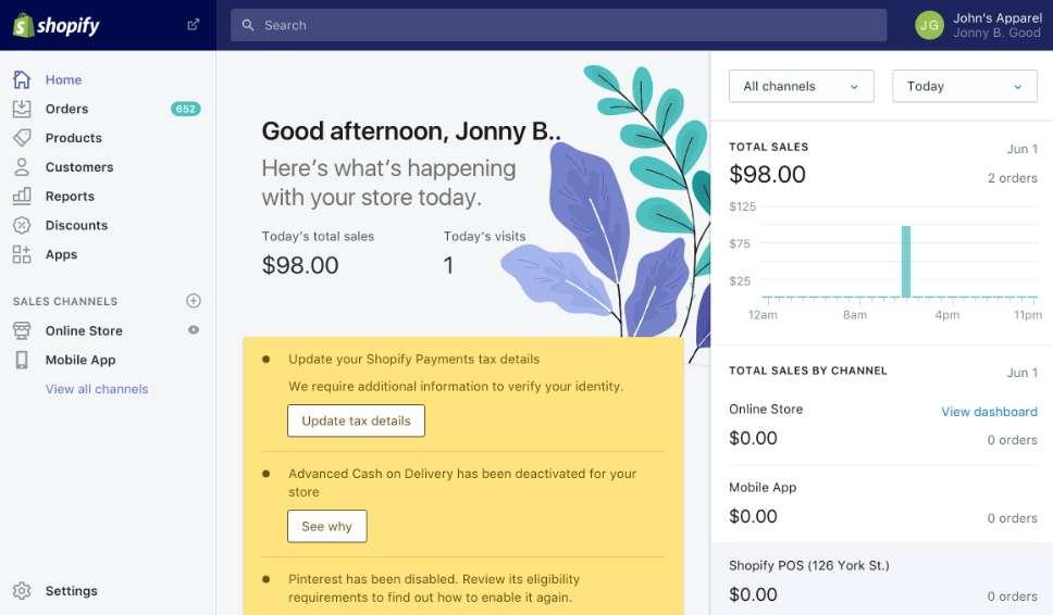 Shopify est une solution très complète pour lancer un site de e-commerce. © Shopify