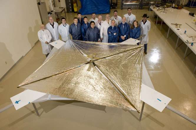 L'équipe de la Nanosail-D. © Nasa/MSFC/D. Higginbotham