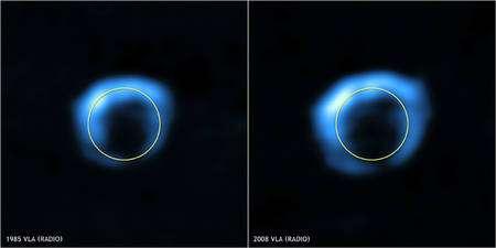 Figure 3. Cliquez pour agrandir. Crédit : NSF/NRAO/VLA/Cambridge/D.Green et al.