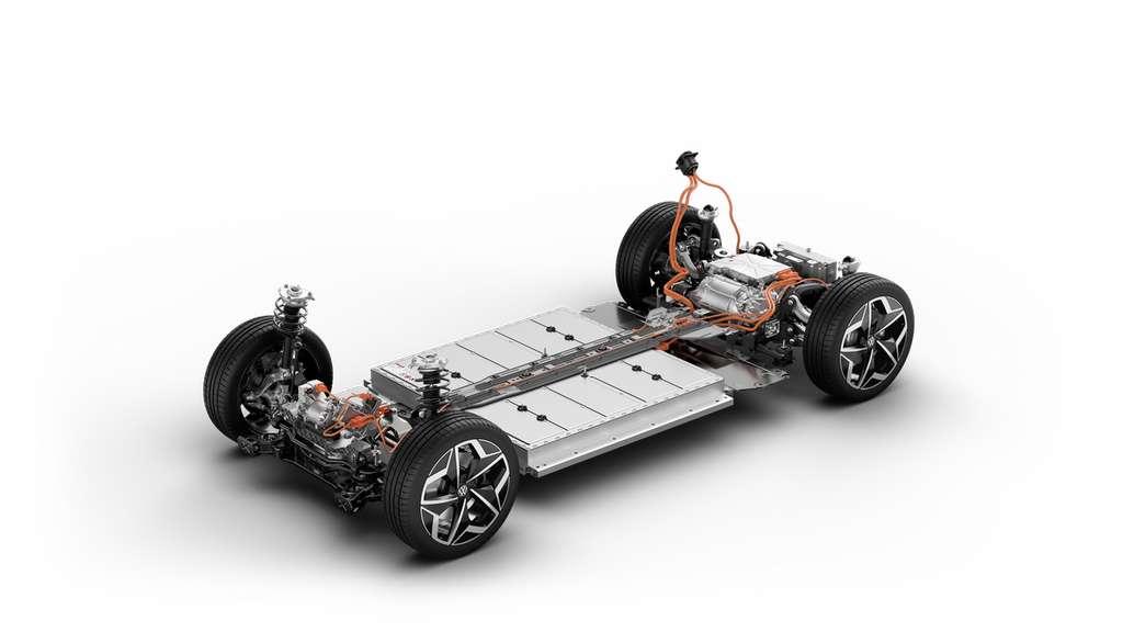 La Volkswagen ID.3 est basée sur la plateforme électrique modulaire MEB. © Volkswagen