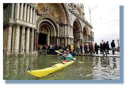 Venise - inondations Place Saint Marc