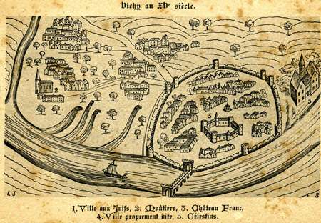 Vue de Vichy au 15è siècle
