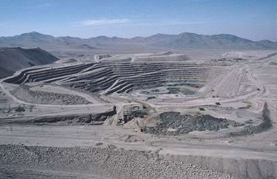Chili, Chuquicamata, hauteur des marches 26 mètres !